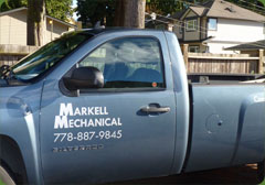 Markell Mechanical plumbing and heating truck